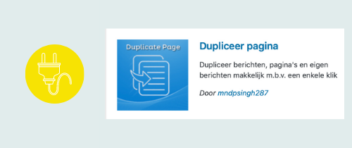plugin om een pagina of blog te dupliceren | website, online leeromgeving, virtual assistant, webassistant