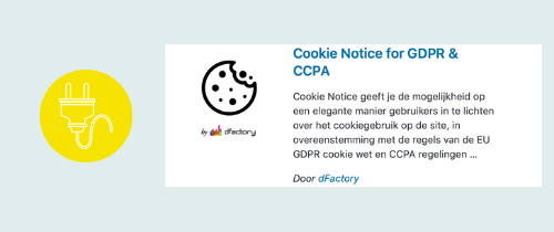 plugin voor een cookiebalk | website, online leeromgeving, virtual assistant, webassistant