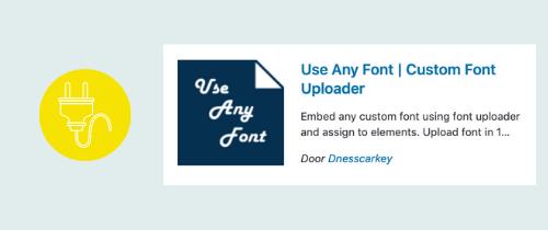 plugin om een lettertype handmatig te uploaden | website, online leeromgeving, virtual assistant, webassistant