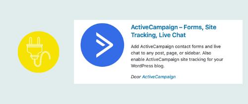 plugin om je site te koppelen aan Active Campaign | website, online leeromgeving, virtual assistant, webassistant